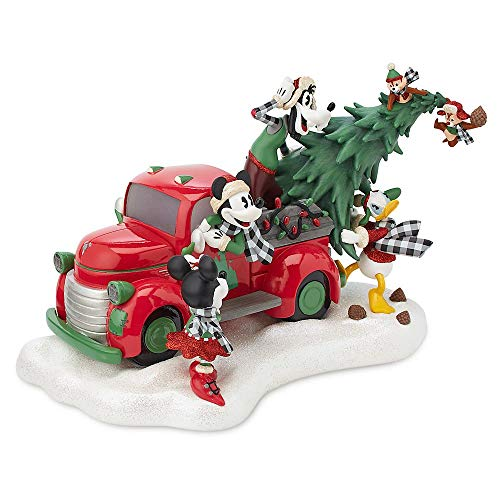 Disney Mickey and Friends Light Up Christmas Red Truck Figurine