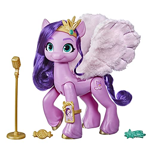My Little Pony: A New Generation Movie Singing Star Princess Petals - 6-Inch Pink Pony That Sings and Plays Music, Toy for Kids Age 5 and Up