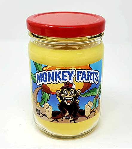 Monkey Farts Candle ~ Premium 100% All Natural Soy Candle ~ Funny Candle with Amazing Scent (12oz Glass Jar)