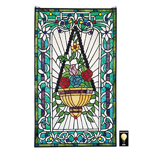 Buntglas-Panel - Le Fenetre des Fleurs (Window of Flowers) Buntglas-Fenster Behang - Fensterbehandlungen
