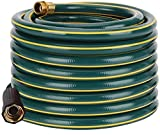 Solution4Patio Homes Garden 5/8 in. x 100 ft. Garden Hose, Brass Fittings, No Kink, No Leaking, Heavy Duty, High Water Pressure, for Extremely Weather 12 Year Warranty, No DOP, Environmental-Friendly