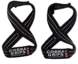 """Deadlift Straps Best Lifting Straps ON The Market! Figure 8 Lifting Straps are The #1 Choice for Power Lifters, weightlifters and Workout Enthusiasts! (80 cm 8.0""""+ and Up Wrist Circumference, White)"""