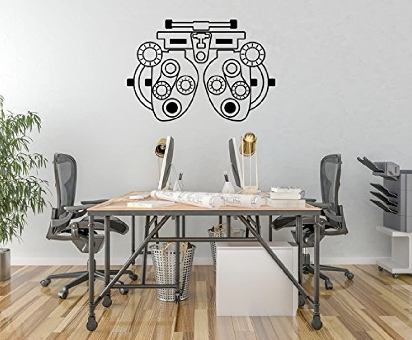 Phoropter Wall Decal, Optometry Decor, Optometrist Decor, Optometry Art, Refractor Decal, Optometrist Gift, Optometry Office