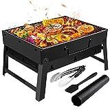 Gifort Barbecue Carbone Portatile, Barbecue Grill Pieghevole e Rete Metallica Griglia in Acciaio...