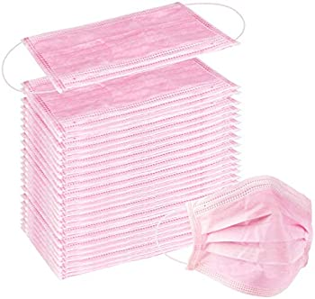 100-Pack Wecolor Disposable 3 Ply Earloop Face Masks