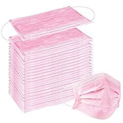 100 Pcs Disposable Earloop Face Surgical Mask (Pink)