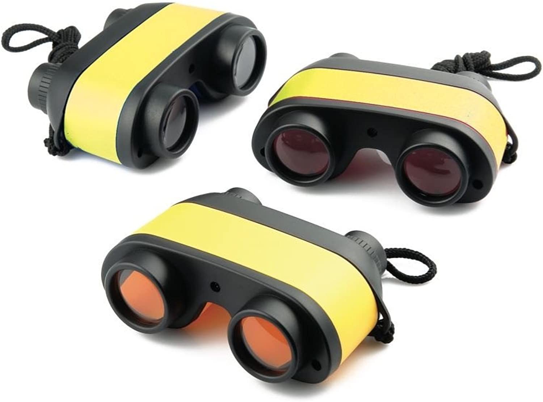 EDU Science 61036 Binocular Set, 28 mm Lanyard, 3x (Pack of 12)