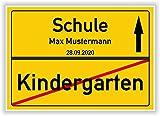 Ortsschild - Bild - Kindergarten - Schule - persönliches