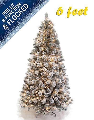 AMERIQUE Árbol de Navidad Artificial de 6 pies con Soporte de Metal, Aspecto y Tacto auténtico,…