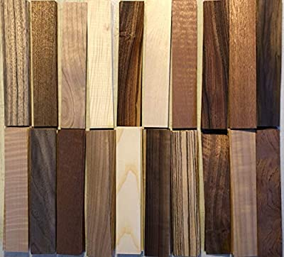 "180-8"" x 1 1/2"" Wood Veneer Fingerboard Rings Arts and Crafts Marquetry"