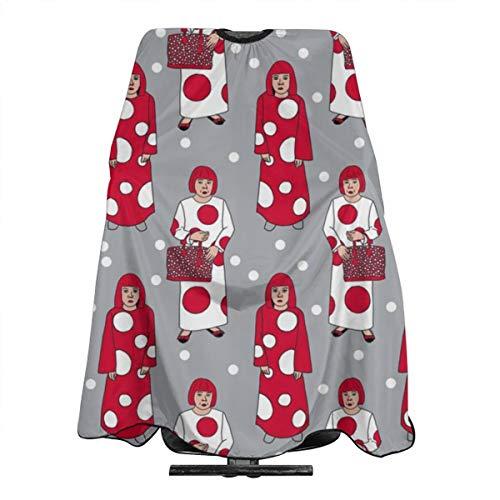 Yayoi Kusama Cape de coiffure en polyester léger Motif pois rouges et blancs 140 x 350 cm