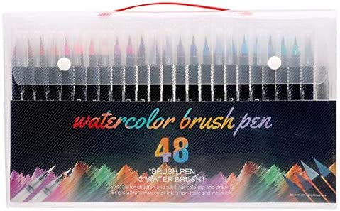 Cobaka 20 24 48 Colors Brush Houston Mall Max 79% OFF pens School a brush water pen 1 and