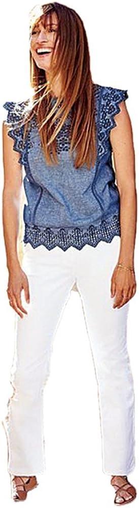 BODEN White Straight Leg Jeans Trouser Pants WC097 Trousers Size US 10 P