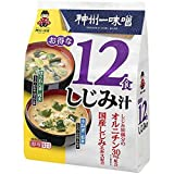 Miyasaka Instant Miso Soup with Clams (12 miso soup packets) Made in Japan