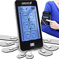 Shield Touchscreen Rechargeable TENS Unit, Electronic Massager for Neck and Back Pain (2020 Model)