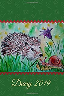 Diary 2019: Hedgehog and Snail Watercolour