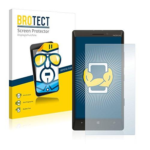 BROTECT Schutzfolie kompatibel mit Nokia Lumia 930 (2 Stück) klare Bildschirmschutz-Folie