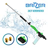 Hydro Jet Sprayer for High Pressure Power Washer Wand – 30 Inch + 9 Inch Long Extendable Sprayer, Hose Nozzle, for Car Washer, Window Water Cleaner, Glass Cleaning Tool, 2 Tips- Green