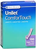 Unilet ComforTouch Lancets Super Thin 30G 100 Each (Pack of 3)