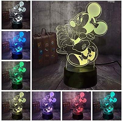Iluminación 3D Especial - Esta lámpara óptica Illusion 3D es en realidad una lámpara que utiliza solamente un pedazo fino de 4m m de acrílico diseñado wireframe, y hace que este efecto 3D se ilumine, no los objetos 3D. Dos modos de control Puede pres...