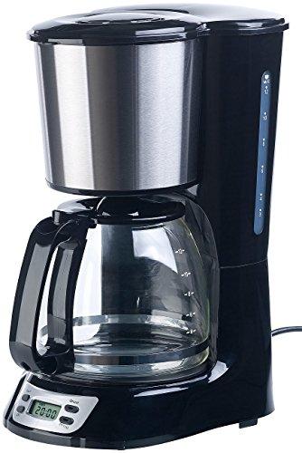 Rosenstein & Söhne Filterkaffeemaschine: Programmierbare Kaffeemaschine für bis zu 12 Tassen, Timer, 1.000 Watt (Kaffeemaschine mit Zeitschaltuhr)