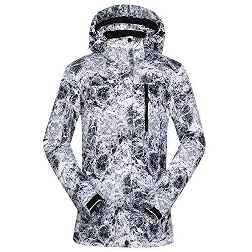 Ladies Ski Suit Damer skidkläder skidjacka varm professionell skidjacka Praktisk Utomhus Bergsklättring (Color : Grey, Size : Small)