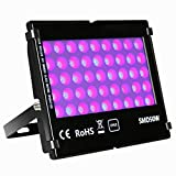 Black Light UV Lights, KINGBO 50W Black Light Fixture Glow in The Dark...
