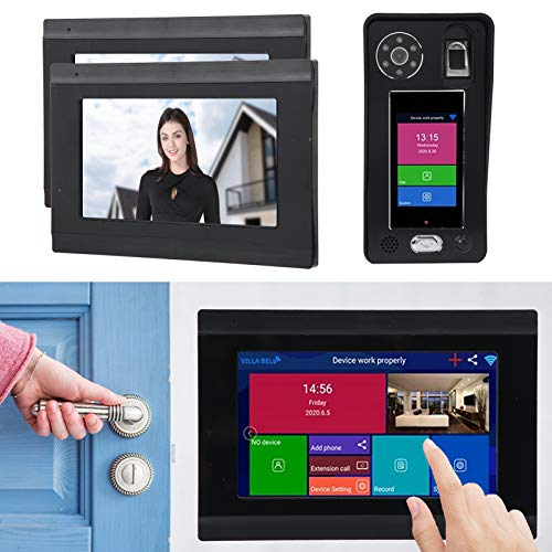 Home Smart Security System, 7in 1080P Wireless Doorbell, Face...