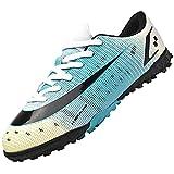 Dhinash Zapatillas de Fútbol para Hombre Zapatos de Fútbol Aire Libre Profesionales Atletismo Training Zapatillas de Deporte Botas de Fútbol Calzado de Fútbol Azul 44EU