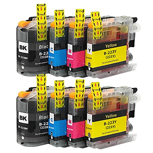 SXCD LC223 - Cartuchos de tinta para Brother MFC-J4420DW J4620DW J4625DW J5320DW J5620DW DCP-J4120DW Impresora de alto rendimiento compatible con 4 colores combinados x 2