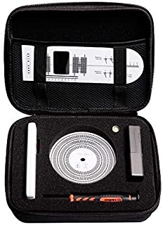 MPK Turntables Adjustment Tool Kits, Professional HiFi Turntable Scale Stylus Cartridge Alignment Protractor Tools.