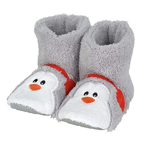 Department 56 Snowpinions, Adult Medium/Large (Sizes 8-10) Penguin Slippers, Multicolor