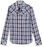 Splendid Women's Long Sleeve Button-Up Shirt, Navy Plaid, Small
