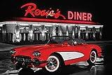 Oldtimer - Rosie's Diner Auto Poster Plakat Druck - Grösse