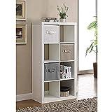 Better Homes and Gardens 4-Cube Organizer Storage Bookcase Bookshelf (4, White) (White, 8 Cube)