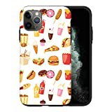 Sconosciuto iPhone 11 PRO Max Case, Fast Food Pattern ABC016_1 Case for iPhone 11 PRO Max Protective Phone Cover, Abstract Funny Gorgeous [Double-Layer, Hard PC + Silicone, Drop Tested]