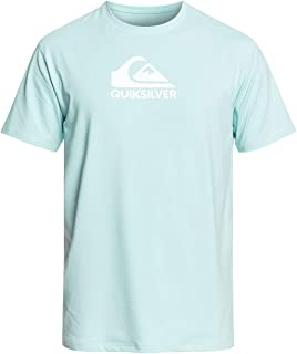 Quiksilver Men's Solid Streak Short Sleeve Rashguard UPF 50+ Sun Protection