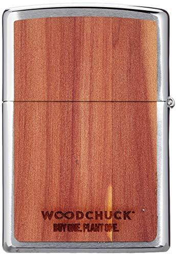 Zippo 60004584 - Accendino in metallo effetto legno, cromato spazzolato