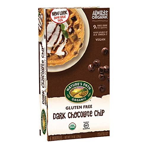 Nature's Path Gluten Free USDA Organic Dark Chocolate Chip Waffles, 7.4 Ounce (Pack of 12)