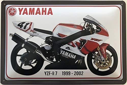 Deko7 blikken bord 30 x 20 cm motorfiets Yamaha type: YZF-R7 1999-2002