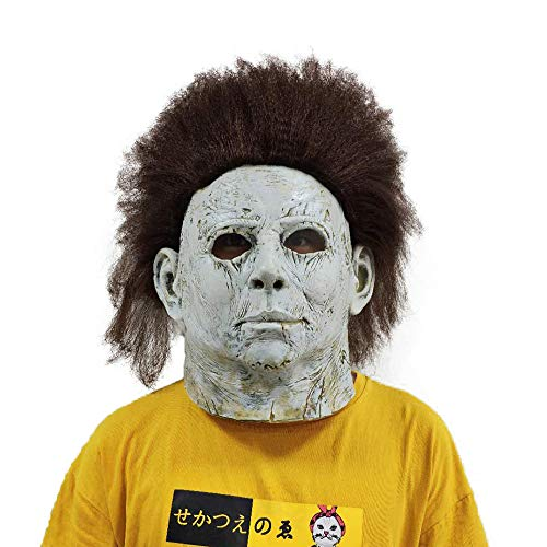 BBBL Halloween Michael Myers Mask Horror Cosplay Adult Latex Full Face Helmet Party Scary Props short Hair