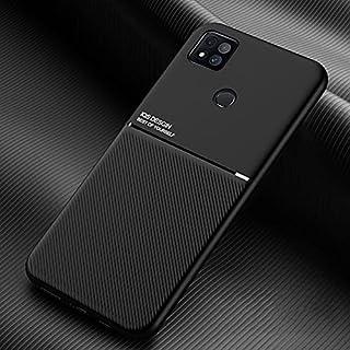 携帯電話保護ケース for Xiaomi Redmi 9cクラシックチルトストリップ穀物磁気耐衝撃PC + TPUケース 携帯電話シェル