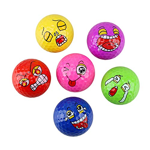Crestgolf Official Novelty Fun Golfbälle Übungsgolfbälle zum Spielen, Üben, Verschenken - 6er Pack
