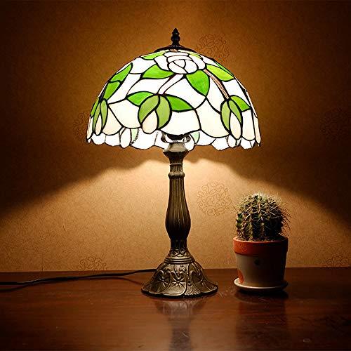 VIWIV Lámpara de escritorio, estilo Tiffany, estilo americano, creativo, romántico, para mesita de noche, 30 x 50 cm