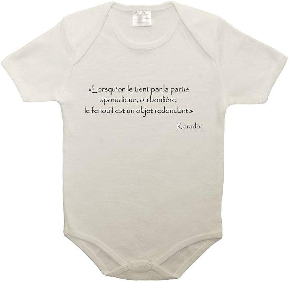 Mygoodprice T-Shirt Femme col V Citation Kaamelott kadoc Elle est ou la poulette