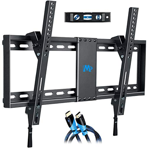 "Mounting Dream Tilting TV Wall Mount for Most 37-70 Inches Flat Screen TVs, TV Mount - Wall Mount TV Bracket up to VESA 600x400mm and 132 lbs - Easy to Install on 16"", 18"", 24"" Studs"