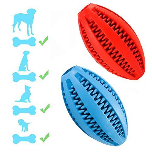 Hunde Zahnreinigung Spielzeug Ball (2 Pack) Hundefutter Ball Intelligenz Interaktives Ausbil Geschenk Für Haustiere Hundezahnbürste Kann Kauen,2Pack