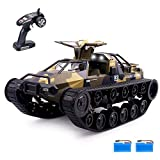 Remote Control Crawler, 1:12 Scale Off-Road Tank, 2.4Ghz Radio RC Car, 4WD High Speed All Terrain RC Truck for Kids & Adult