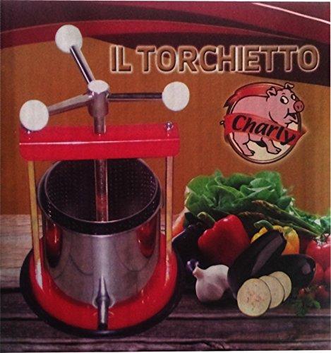 Torchietto torchio premitutto laccato acciaio inox lt 1,5 Charly Made in Italy
