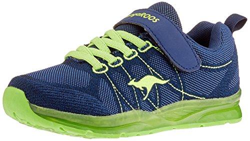 KangaROOS Kangaboy EV SL Unisex-Kinder Sneaker, Blau (Dark Navy/Lime 4054), 33 EU